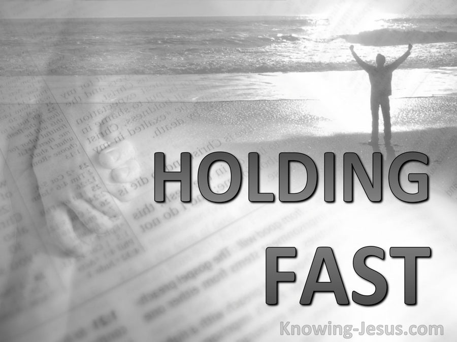 Holding Fast (devotional) (gray) - Philippians 2:16