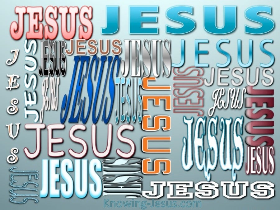 JESUS - Names of Jesus (aqua)