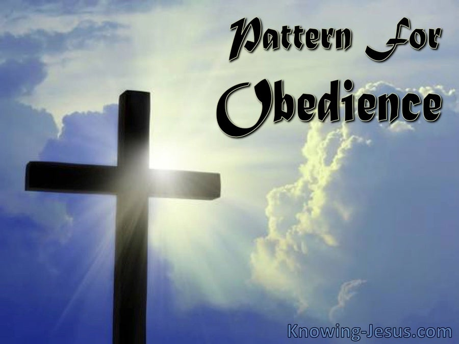 Pattern for Obedience (devotional)12-25   (blue)