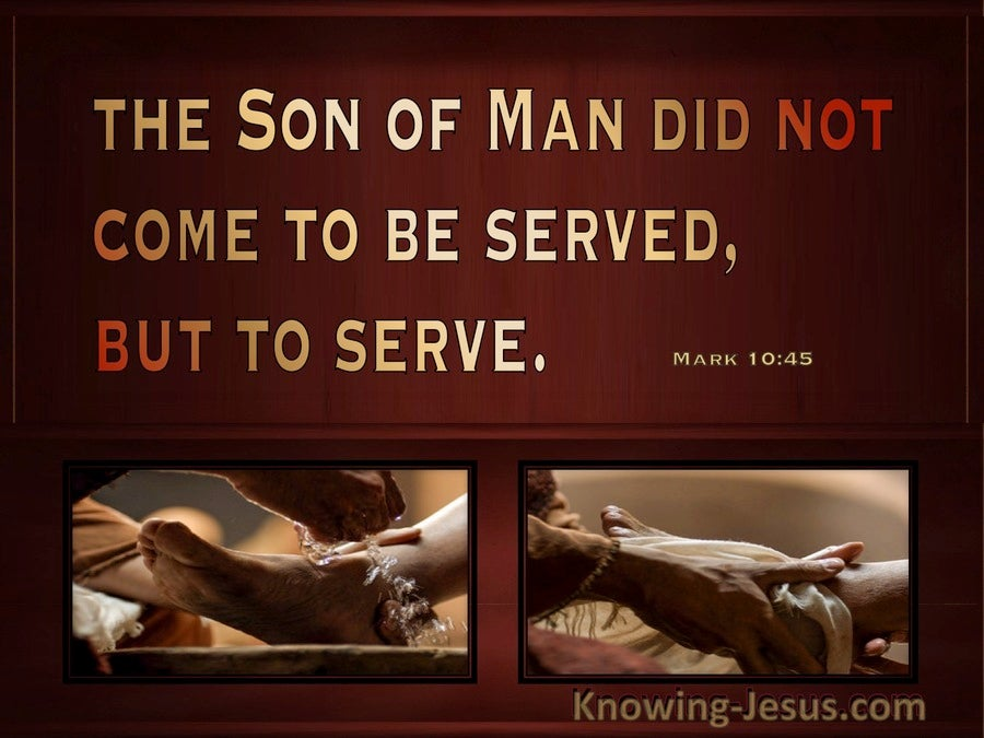 Jesus Our Worthy Example (devotional)  (brown) - Mark 10:45