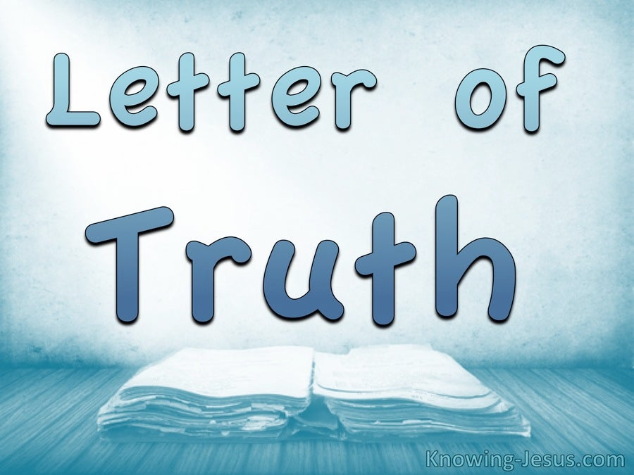 Letter of Truth  (devotional)