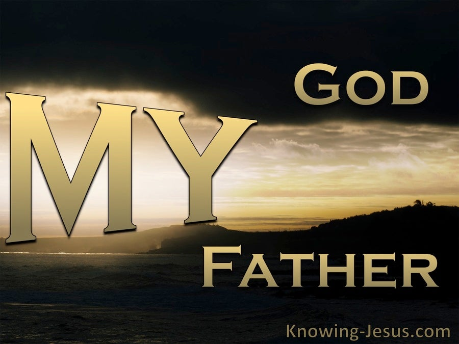 John 20:17 My God My Father (black)