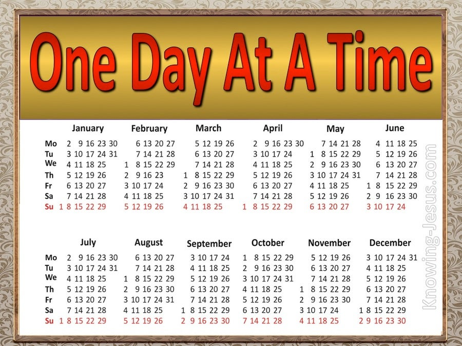 One Day At A Time (devotional) (red)