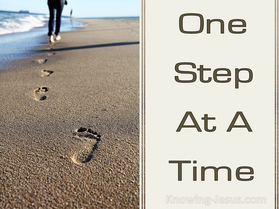 one step at a time essay Saving the world from obesity, one step at a time for many centuries, the perfect woman was a slim woman bailey 2 though we are more understanding today.
