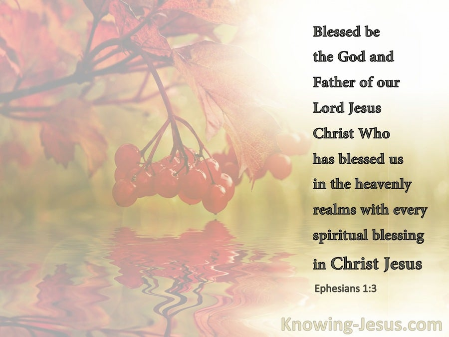 Ephesians 1:3 Blessed Be The God And Father Of Our Lord Jesus (white)