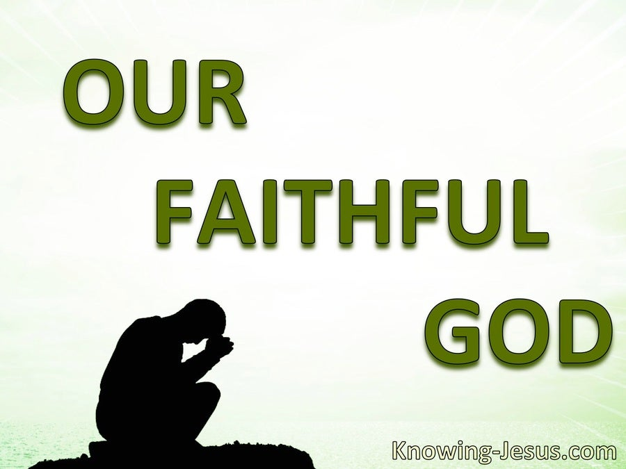 2 Corinthians 1:18 God Is  Faithful (green)