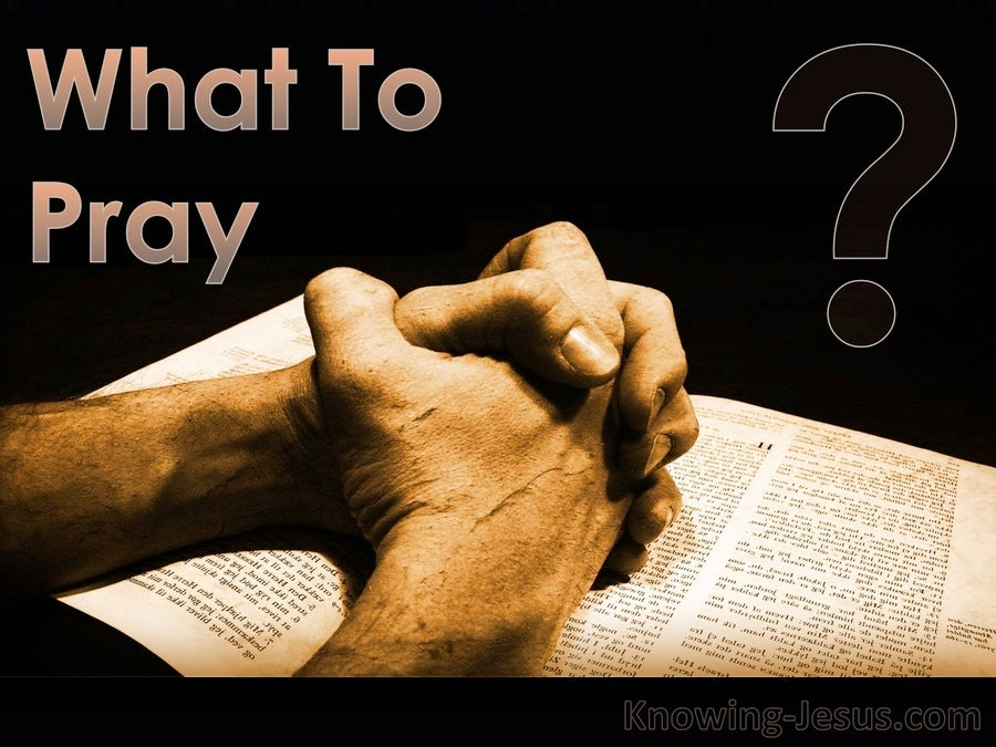 What To Pray (devotional)03-29 (black)