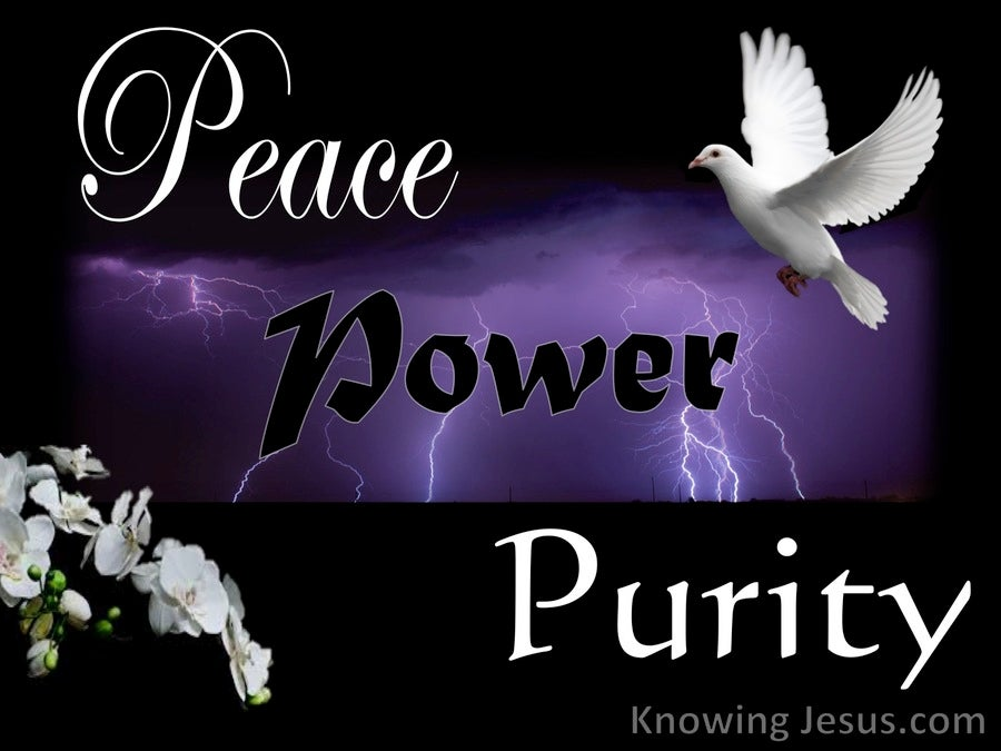 Peace, Power, Purity (devotional) (purple)