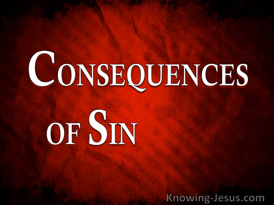 Consequences of Sin (devotional)