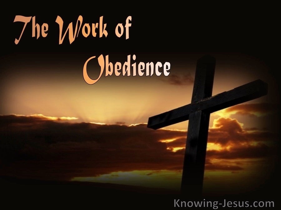 The Work of Obedience (devotional)12-26   (brown)