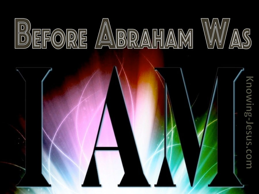 John 8:58 Before Abraham Was I Am (pink)