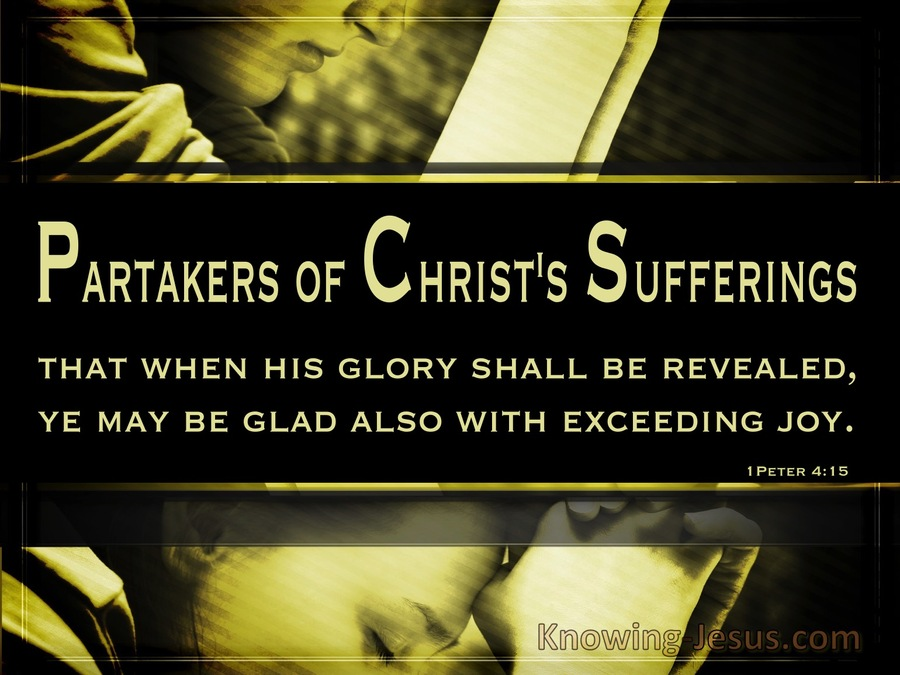 Suffering But Rejoicing (devotional) (black) - 1 Peter 4:15