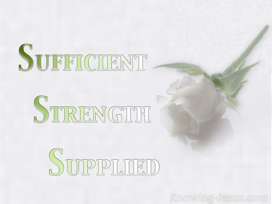Sufficient Strength Supplied (devotional)02-26 (green)