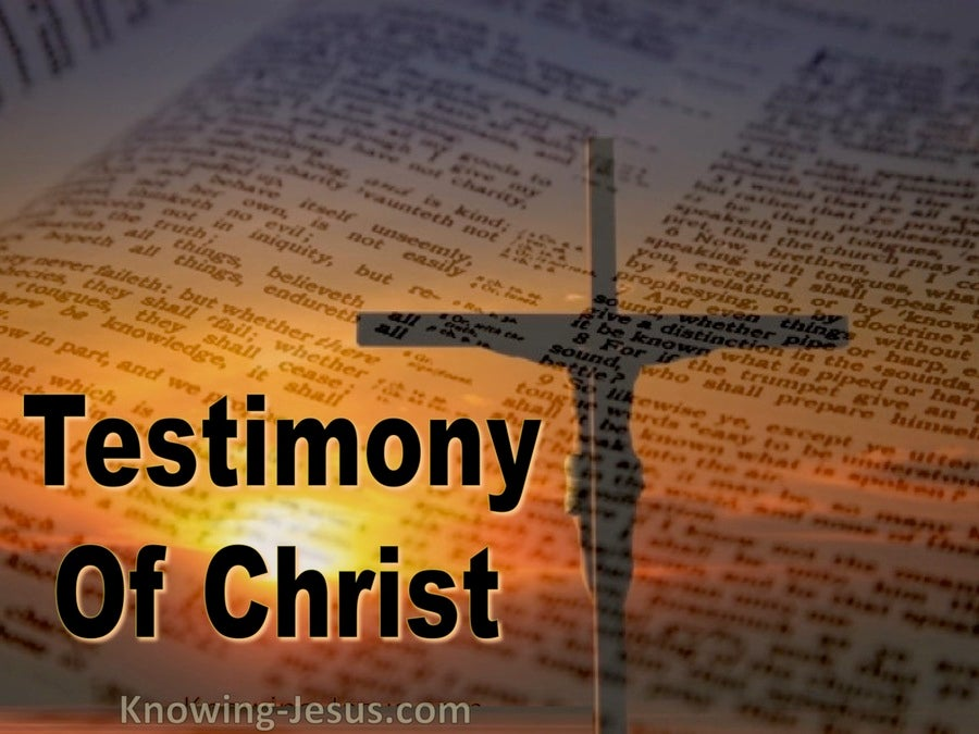 Testimony of Christ  (devotional) (orange)