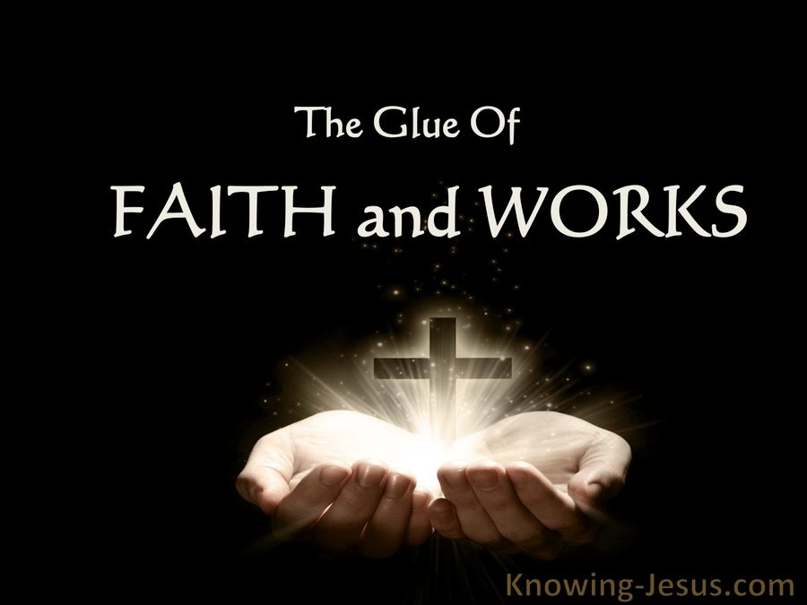 The Glue Of  Faith And Works (devotional)05-11 (black)