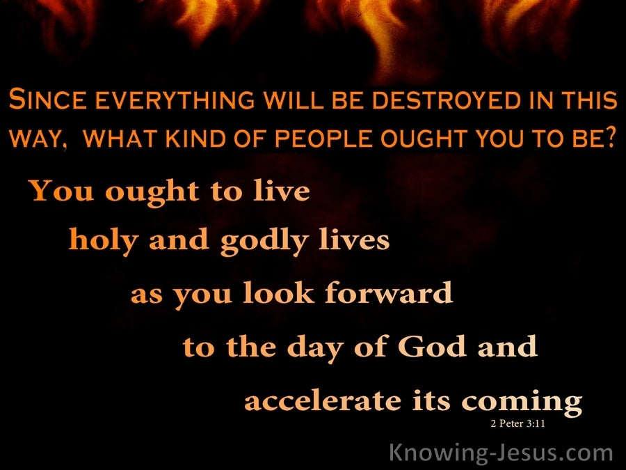 The Great Conflagration (devotional)  (black) - 2 Peter 3:11