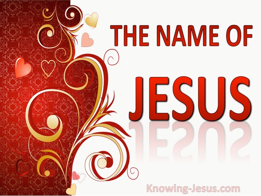 Philippians 2:10 The Name of Jesus (devotional)06-28 (red)