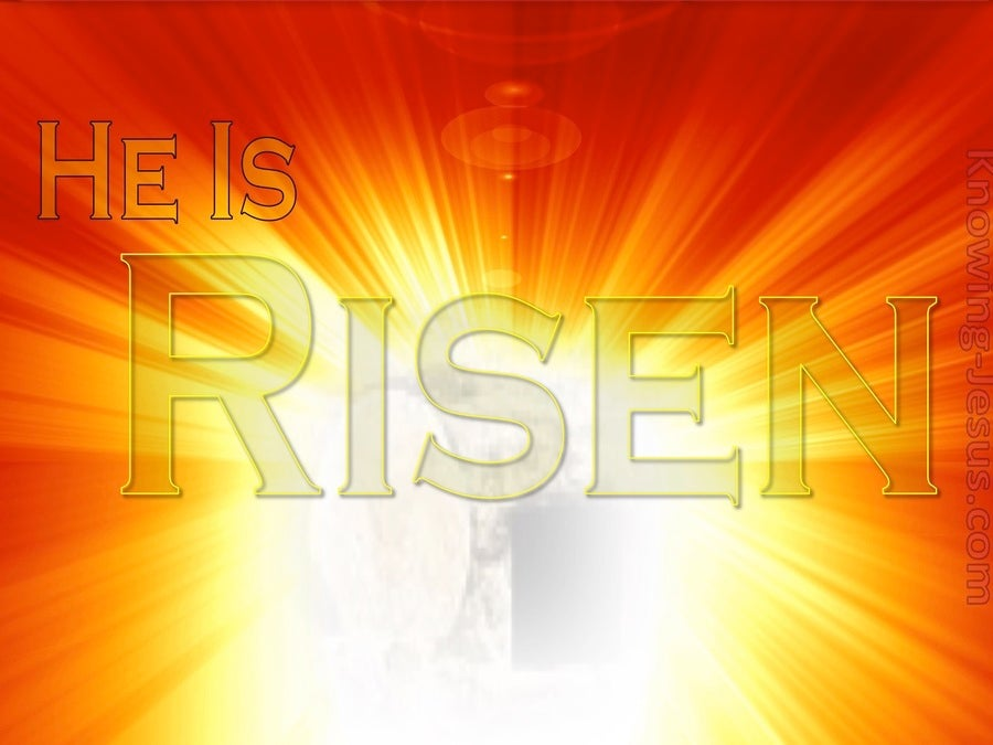 The Power of His Resurrection (devotional) (white) - Matthew 28:6