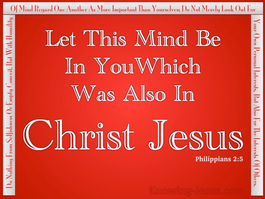 The Spiritual Mind (devotional) (red) - Philippians 2:5
