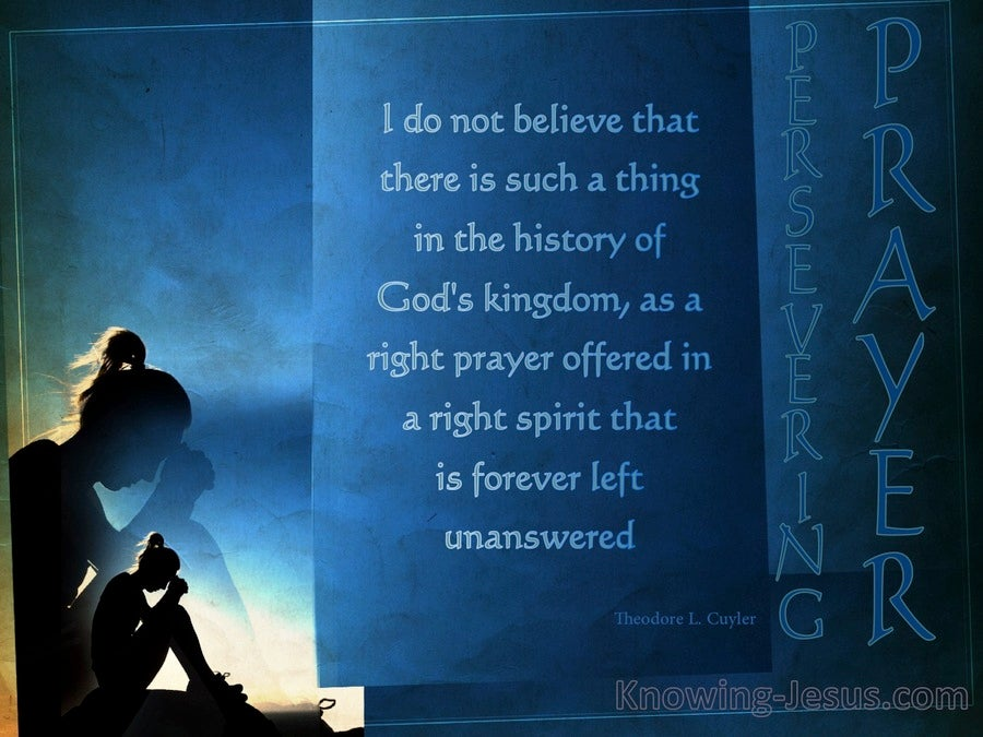 Unanswered Prayer (devotional) (blue) - poem