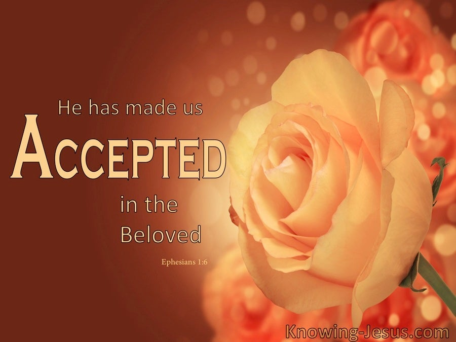 Ephesians 1:6 Unconditional Acceptance (devotional)03:23 (orange)