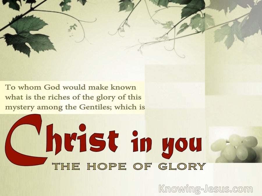 Union With Christ (devotional) (red) - Colossians 1:27