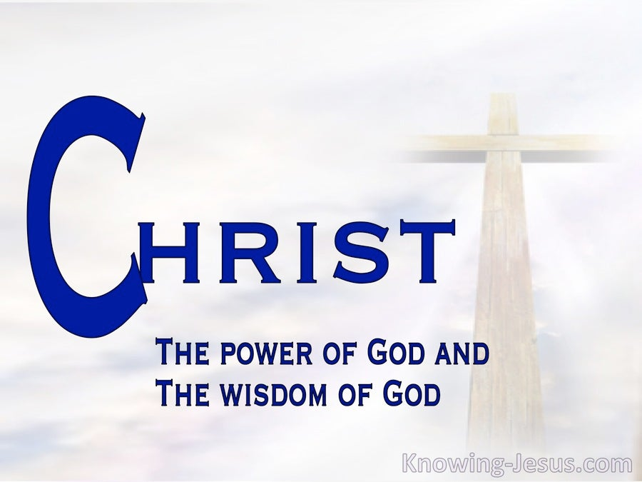 1 Corinthians 1:24 Christ The Power Of God (white)