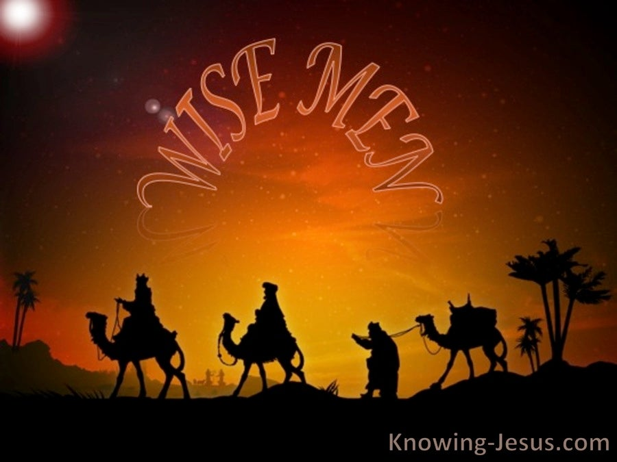 Matthew 2:1 Wise Men Came From The East (brown)
