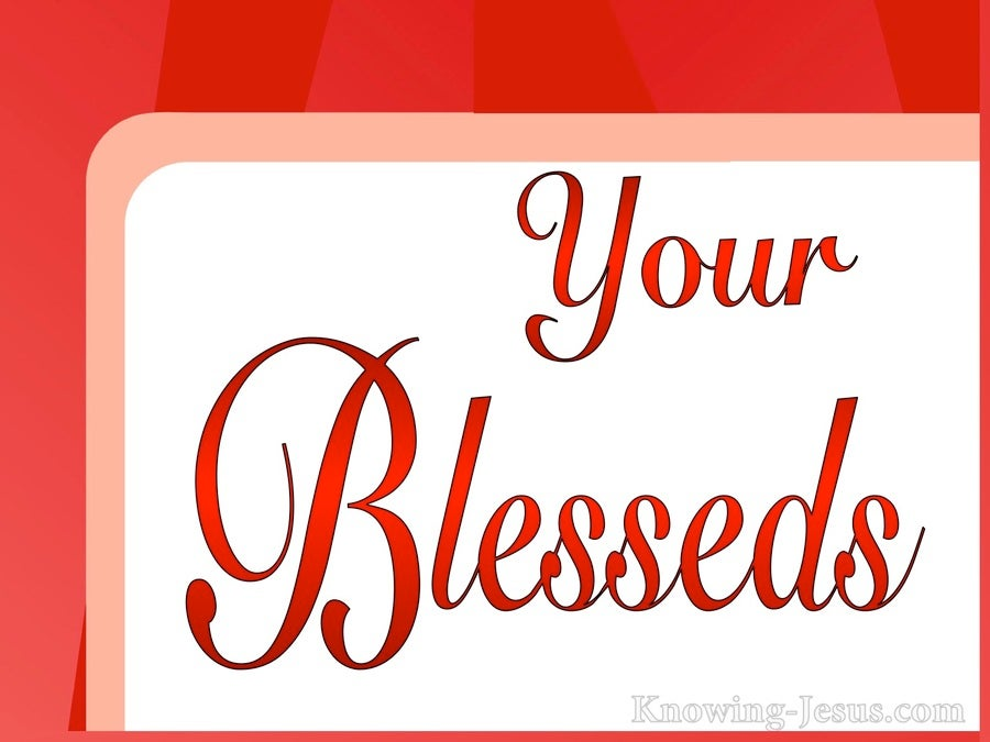 Your Blesseds (devotional) (red)