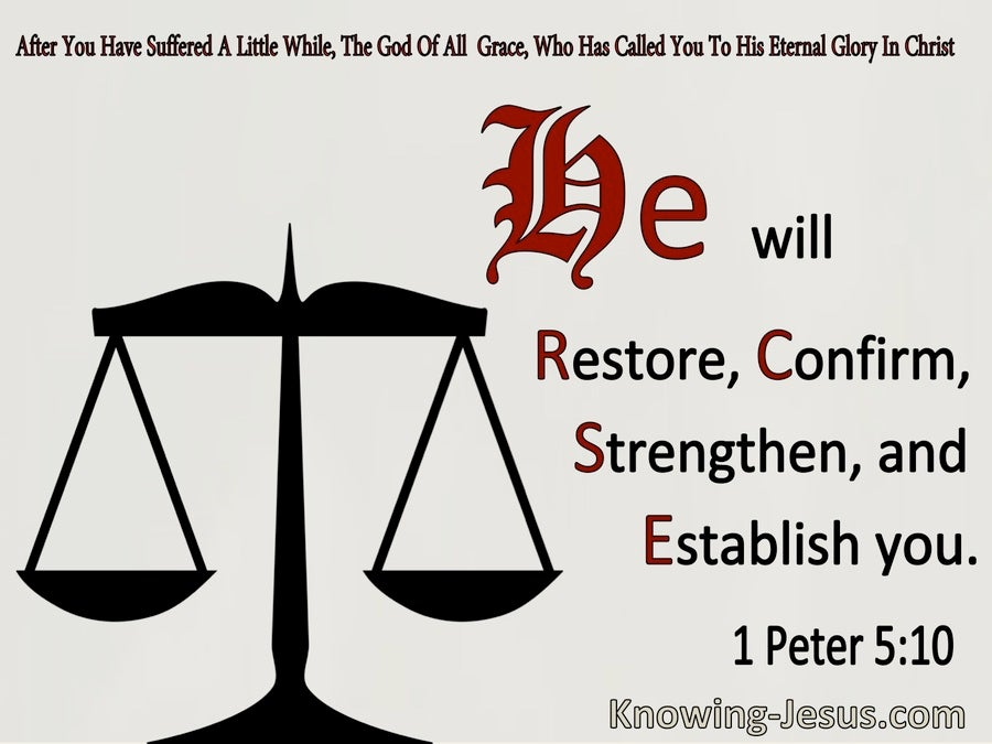 1 Peter 5:10 He Will Restore, Confirm, Strengthern and Establish You (windows)11:20