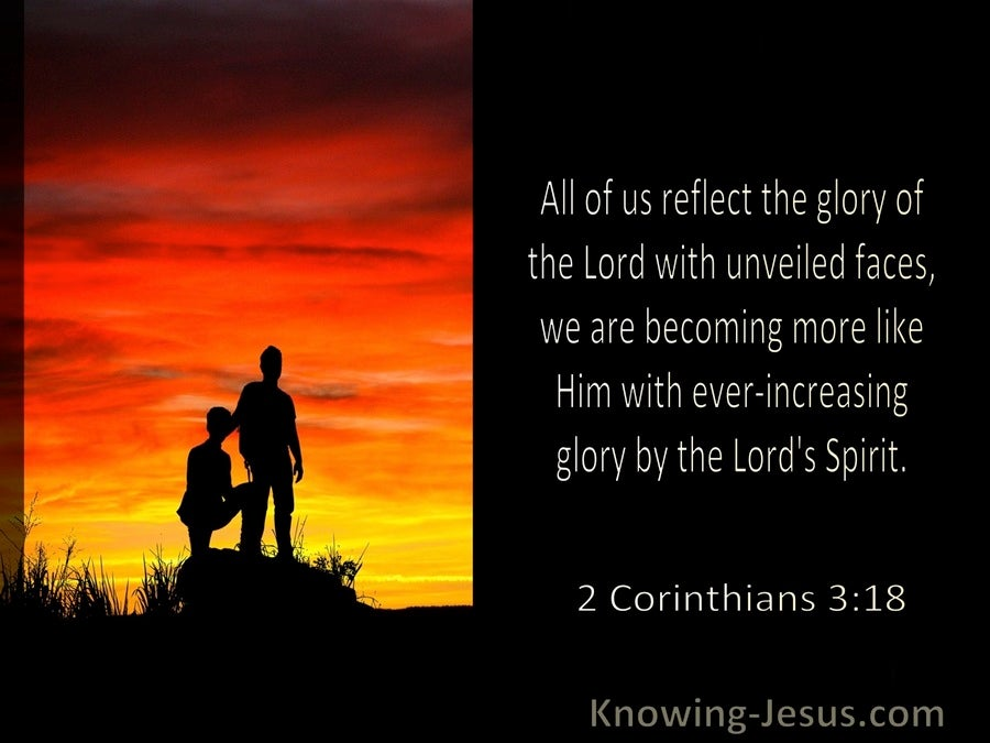 2 Corinthians 3:18 We Reflect The Glory Of The Lord WIth Unveiled Facs (windows)11:21