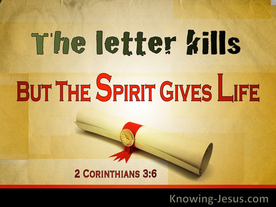 2 Corinthians 3:6 The Letter Kills But The Spirit Gives Life (windows)06:07
