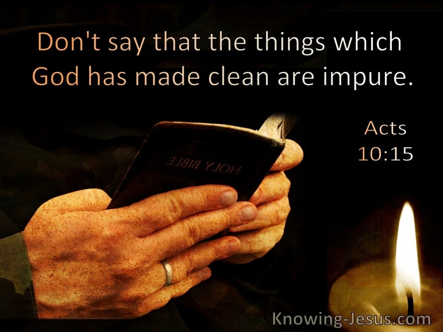 Acts 10:15 Dont Say Things God Has Made Clean Are Impure (windows)11:05