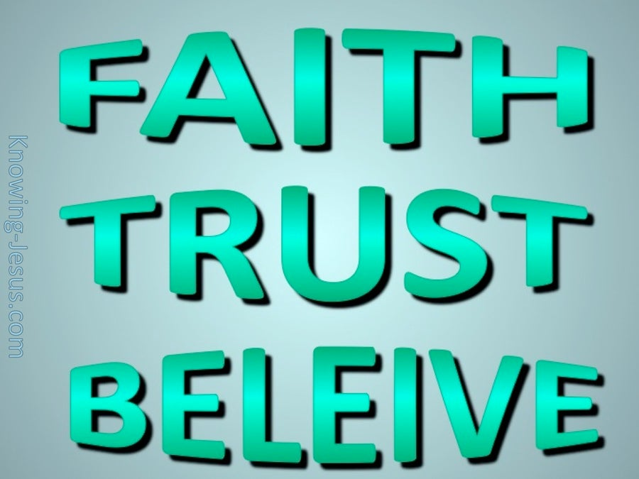 Faith Trust Believe Aqua