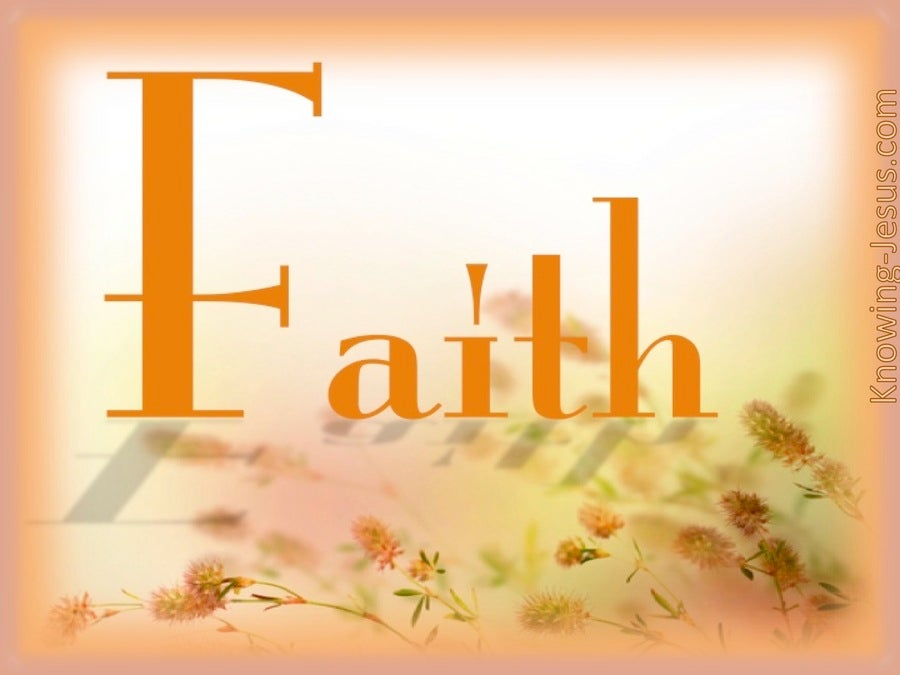 Faith (devotional) (orange)