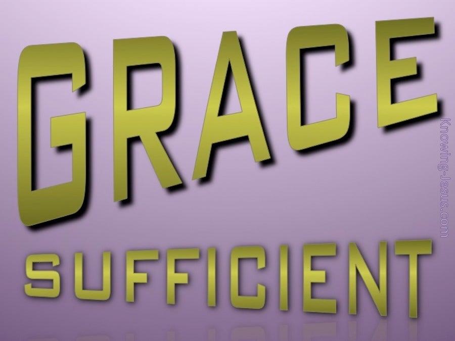 GRACE Sufficient (sage)