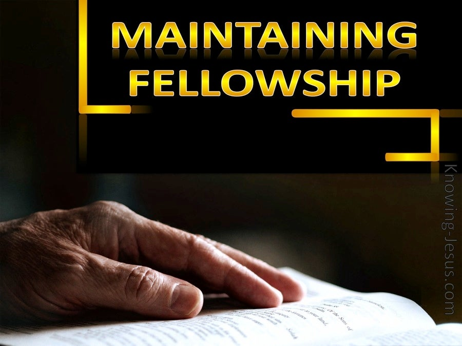 Maintaining Fellowship  (devotional)04-10 (black)