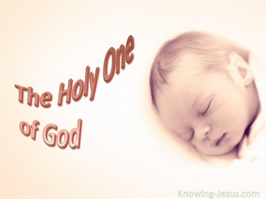 The Holy One Of God (devotional) (white) - John 6:69