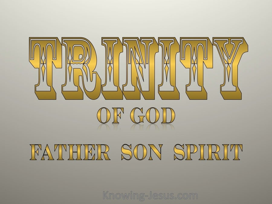 Trinity Of God (gold)