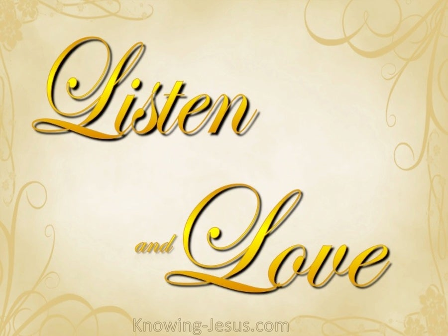 Listen and Love (devotional) (yellow)