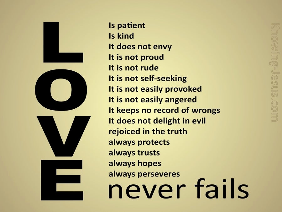 Image result for love never fails