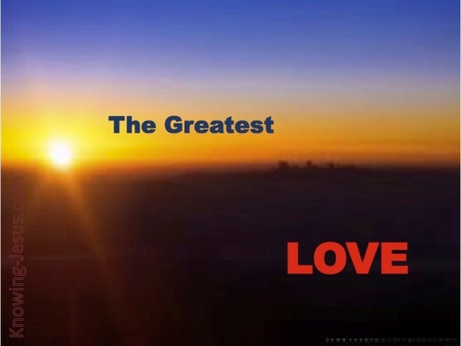 The Greatest Love (devotional) (brown)
