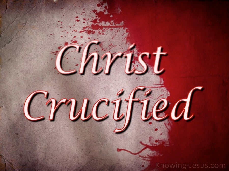Christ Crucified (devotional) (gold) - Galatians 6:14