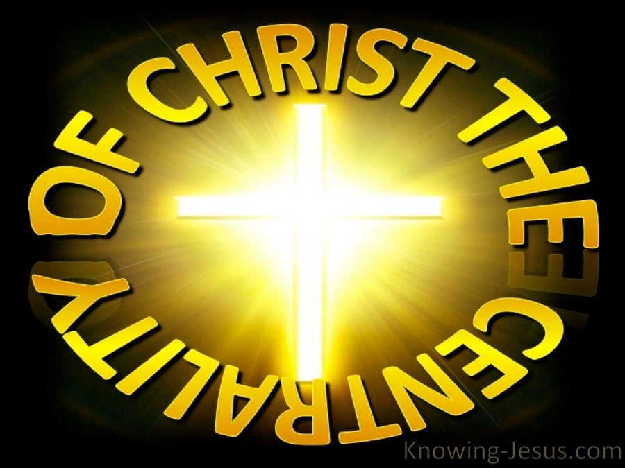 Centrality of Christ (devotional) (yellow)