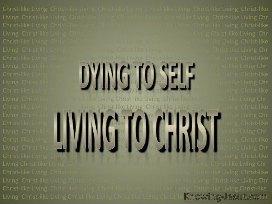 Dying To Self Living To Christ (sage)