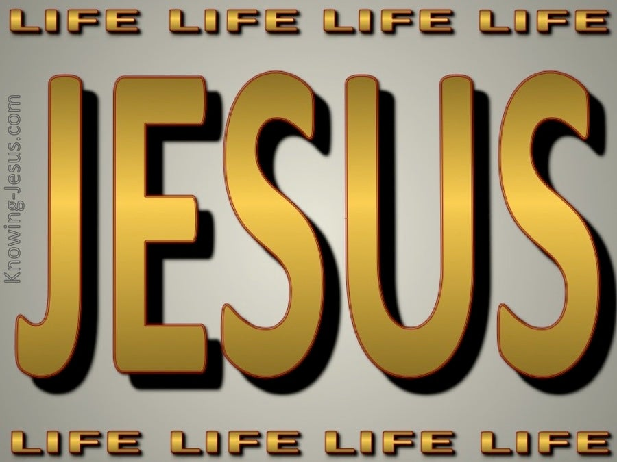 JESUS Is Life (gold)