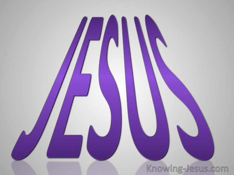 JESUS - His Name (purple)
