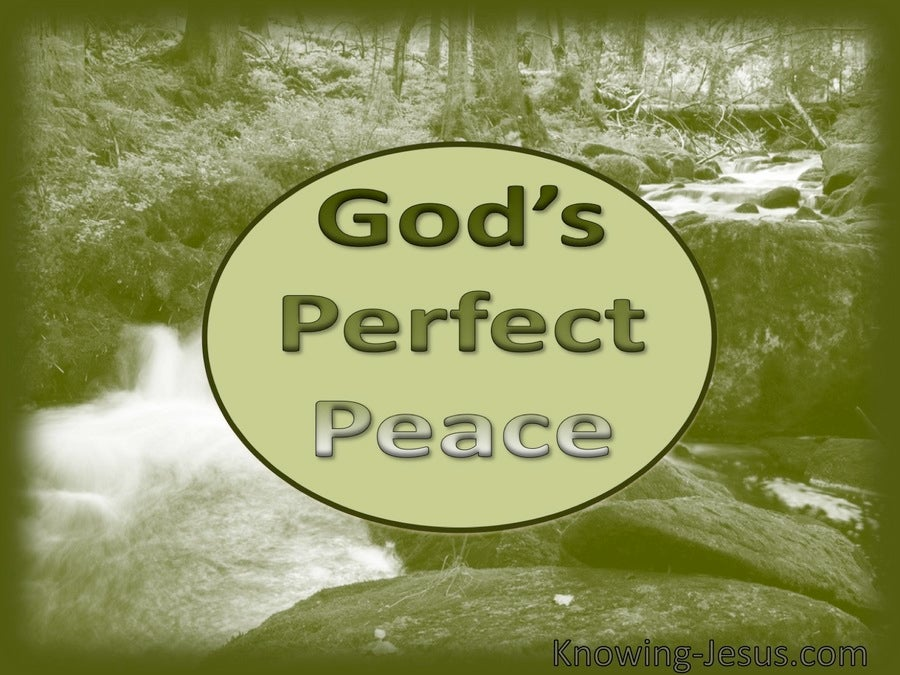God's Perfect Peace (devotional) (sage)