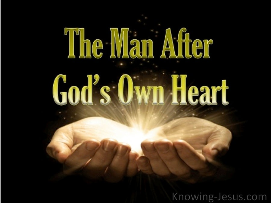 1 Samuel 13:14 The Man After God's Own Heart (devotional) (black)