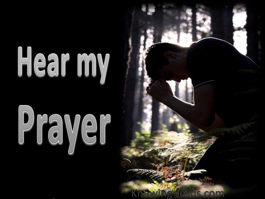 Hear My Prayer (devotional) (black) - Psalm 54:2